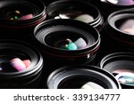 modern camera lenses with... | Shutterstock . vector #339134777
