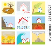 natural disasters   drought ... | Shutterstock .eps vector #339137327