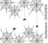 spiders and cobwebs ... | Shutterstock .eps vector #339169823