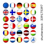 european union flags round... | Shutterstock .eps vector #339175397