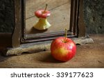 apple reflecting in the mirror | Shutterstock . vector #339177623