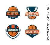 basketball logo template...   Shutterstock .eps vector #339192533
