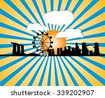 singapore skyline  vector... | Shutterstock .eps vector #339202907