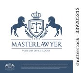 luxury lawyer logo template  | Shutterstock .eps vector #339205313