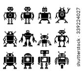 robot icons | Shutterstock .eps vector #339224027