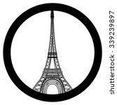 peace for paris symbol eiffel... | Shutterstock .eps vector #339239897