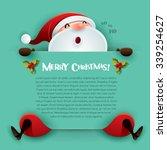 merry christmas  santa claus... | Shutterstock .eps vector #339254627