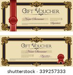 gift voucher with seal royal... | Shutterstock .eps vector #339257333