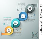 modern infographic banner with... | Shutterstock .eps vector #339269123