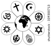 world religions planet earth... | Shutterstock .eps vector #339300713