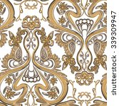 gold royal seamless pattern on... | Shutterstock .eps vector #339309947