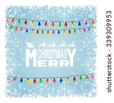 the inscription merry christmas ... | Shutterstock .eps vector #339309953