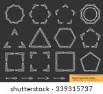 set of geometric borders and... | Shutterstock .eps vector #339315737