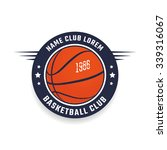 basketball club logo template.... | Shutterstock .eps vector #339316067