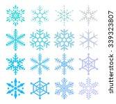 crystal of snow | Shutterstock .eps vector #339323807