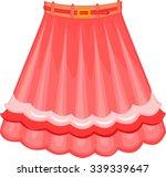 pink skirt | Shutterstock .eps vector #339339647