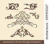 decorative floral design... | Shutterstock .eps vector #339353267