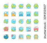 landscape icons  thin line... | Shutterstock .eps vector #339353507