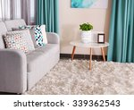 sofa with colorful pillows in...   Shutterstock . vector #339362543