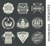 hand craft insignias logotypes... | Shutterstock .eps vector #339363953