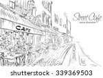 vector illustration of street... | Shutterstock .eps vector #339369503