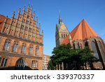 Stock photo market church and old town hall in hannover germany 339370337