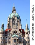 Stock photo new town hall rathaus in hanover germany 339370373