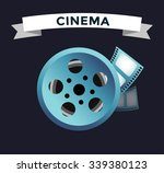 Постер, плакат: Film cinema technology vector