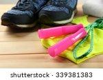 sport shoes  clothes  equipment ... | Shutterstock . vector #339381383