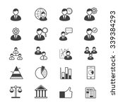 management icons line | Shutterstock .eps vector #339384293