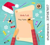 merry christmas wish list to... | Shutterstock .eps vector #339387857
