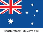 australia flag vector | Shutterstock .eps vector #339395543