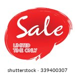 red painted sticker with sale... | Shutterstock .eps vector #339400307