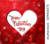 heart and original hand... | Shutterstock .eps vector #339403373
