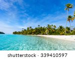 stunning tropical aitutaki one... | Shutterstock . vector #339410597
