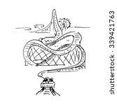 amusement park. vector... | Shutterstock .eps vector #339421763