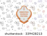 vector line graphic. christmas... | Shutterstock .eps vector #339428213