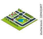 isometric city map. isometric...   Shutterstock .eps vector #339431897