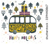 happy holidays. print design | Shutterstock .eps vector #339440867