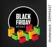 black friday sale isometric...   Shutterstock .eps vector #339441617