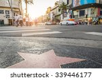 Small photo of Walk of Fame at sunset on Hollywood Boulevard