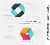 vector flat design infographic... | Shutterstock .eps vector #339462353