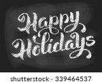 Happy Holidays Vintage Chalked...