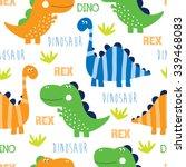 Seamless Dinosaur Pattern...