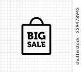 vector icon of big sale... | Shutterstock .eps vector #339478943