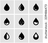 vector black drop icon set. | Shutterstock .eps vector #339486473