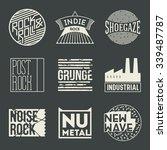 rock music styles genres... | Shutterstock .eps vector #339487787