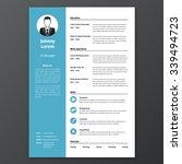 cv  resume template  vector...   Shutterstock .eps vector #339494723