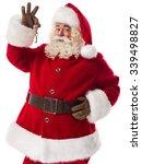 santa claus holding keys... | Shutterstock . vector #339498827
