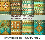 collection of bright seamless... | Shutterstock .eps vector #339507863